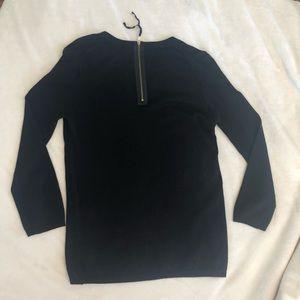 Zara sz S no wool black Zaraknit sweater, neck zip